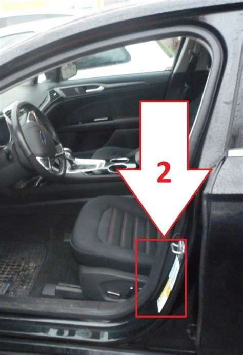 Ford Fusion (2013-2016) - Where is VIN Number   Find