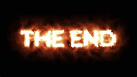 The Words the End Lighting Stock Footage Video (100% Royalty-free) 19235905   Shutterstock
