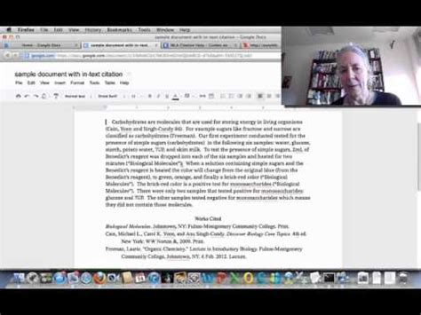In-text citation using MLA format - YouTube