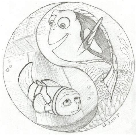 Marlin and Dory Yin and Yang by whitegryphon on DeviantArt