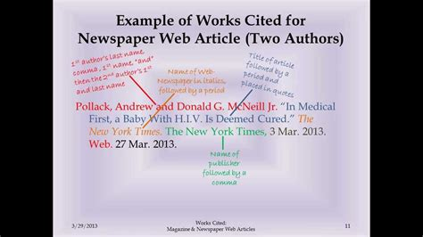 MLA Works Cited Magazine and Newspaper Web Articles - YouTube